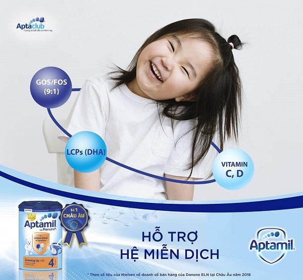 Sữa Aptamil Úc dinh dưỡng đầy đủ cho sự phát triển của trẻ