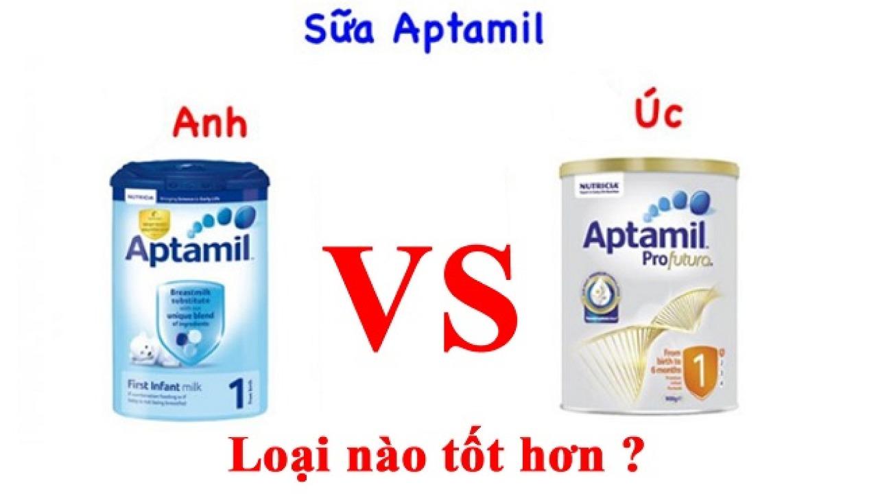 So sánh sữa Aptamil Úc và Anh loại nào tốt nhất cho trẻ?