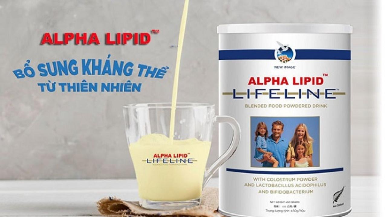 Thành phần và công dụng của sữa Alpha Lipid Lifeline New Zealand