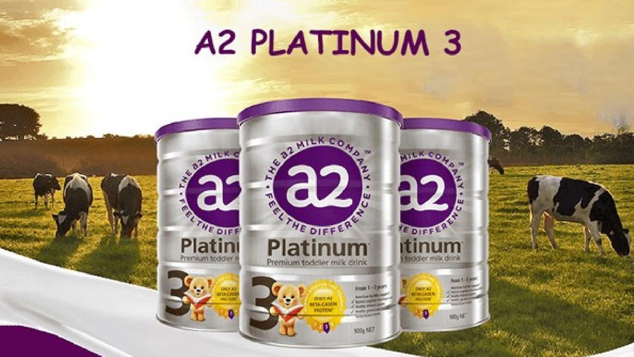 Sữa A2 Platinum số 3 - sữa bột công thức cho bé từ 1 đến 3 tuổi