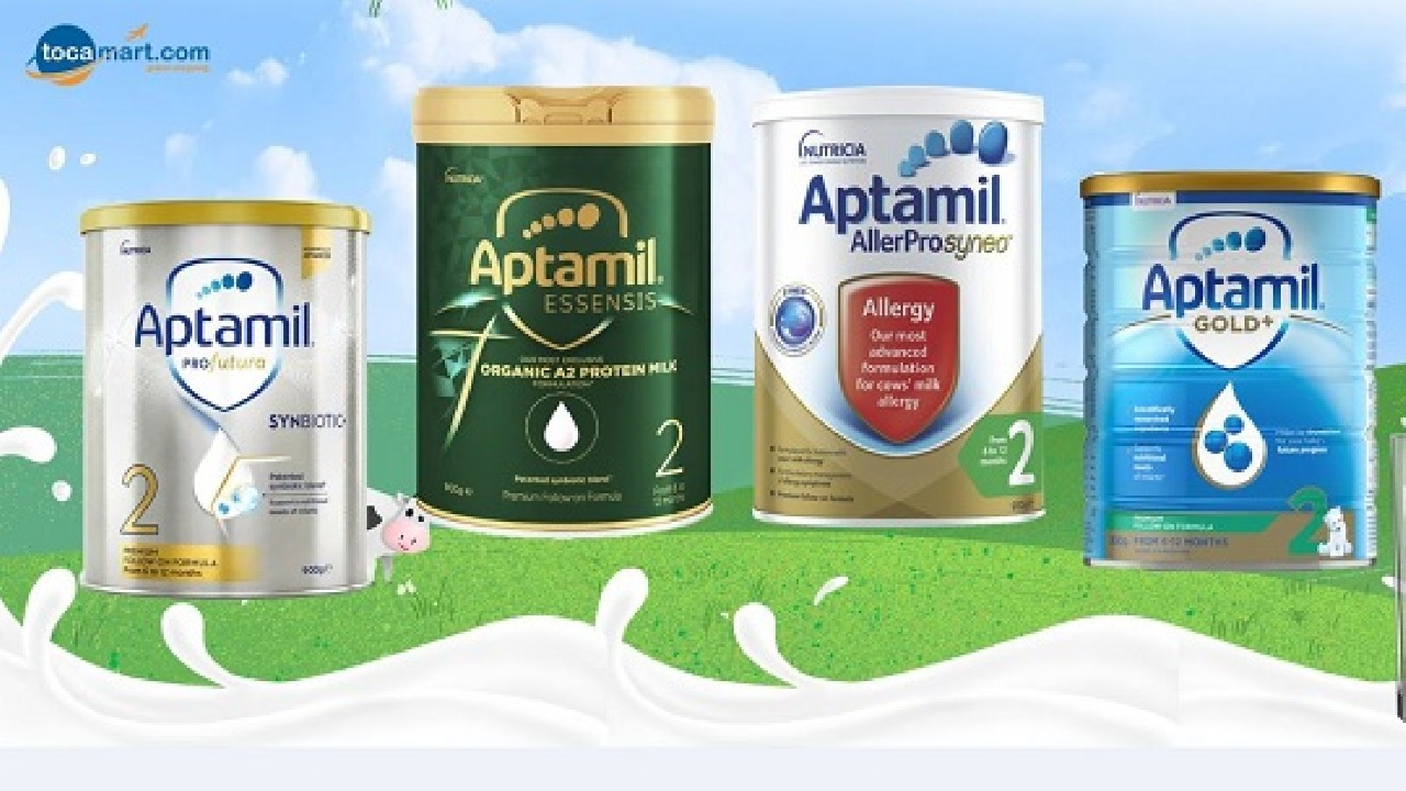 Sữa Aptamil Úc số 2 có những loại nào? Công dụng ra sao?