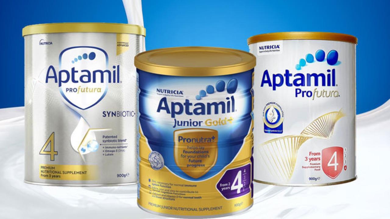 Sữa Aptamil Úc số 4 - Công thức dinh dưỡng dành cho bé 3 tuổi