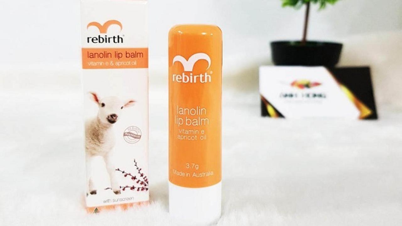 Review son dưỡng môi nhau thai cừu Rebirth đến từ Úc