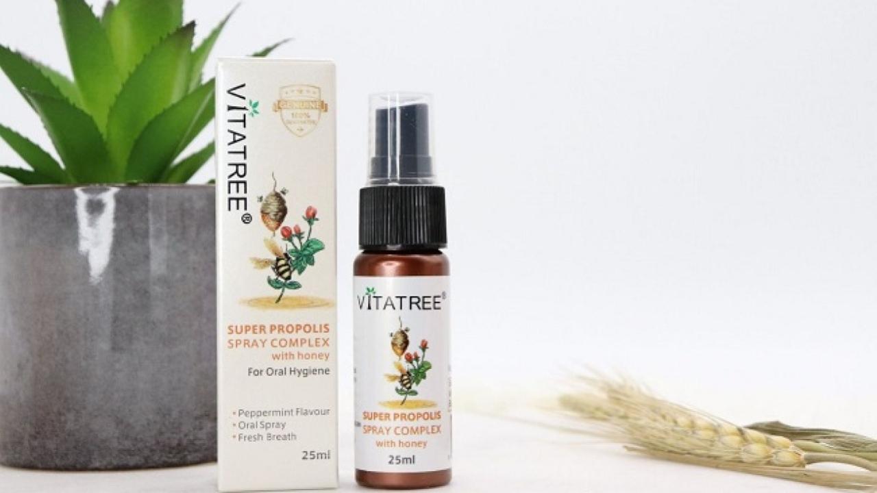Review: Xịt keo ong Vitatree kháng khuẩn, giảm đau họng 25ml Úc