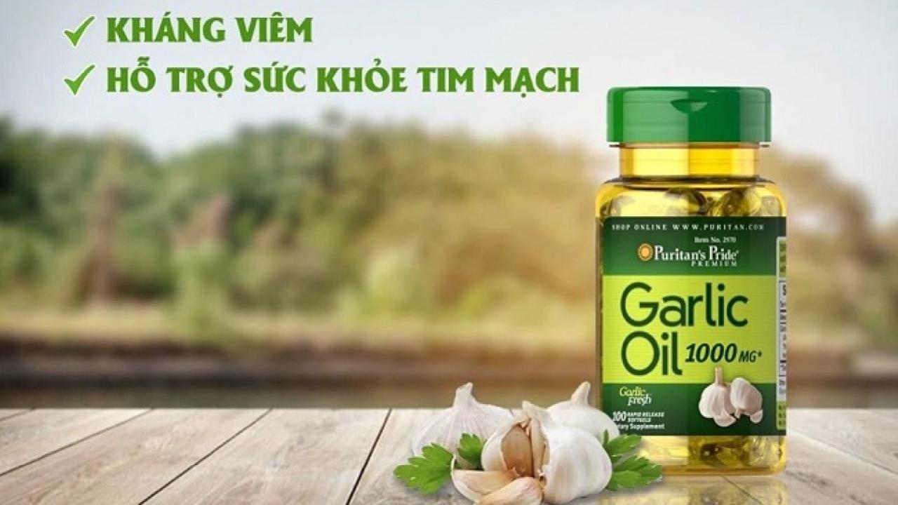Tinh chất tỏi Puritan's Pride Garlic Oil 1000mg tăng cường miễn dịch