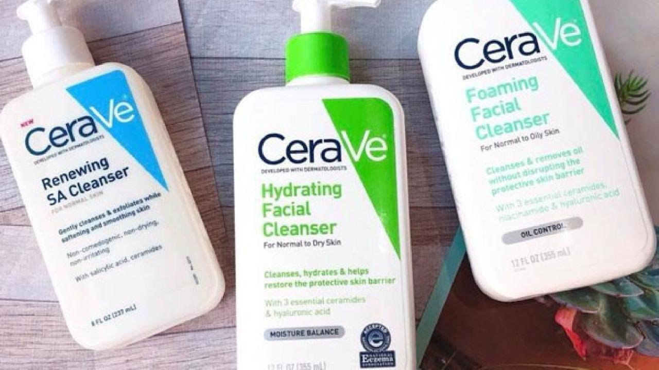 Top 3 dòng sữa rửa mặt CeraVe tốt nhất hiện nay