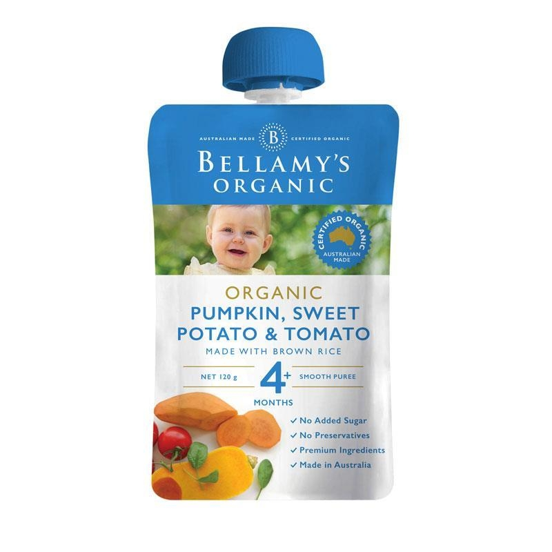 Bellamys Organic Pumpkin, Sweet Potato & Tomato 120g