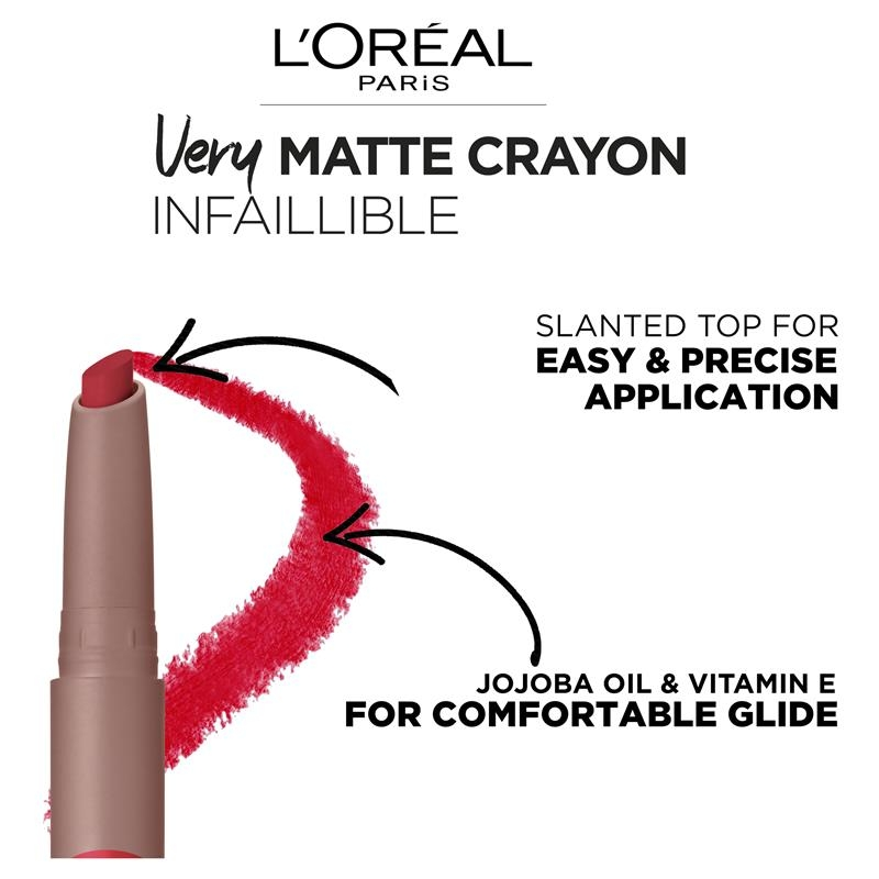 L'Oreal Infallible Matte Crayon 101 Smooth Cara