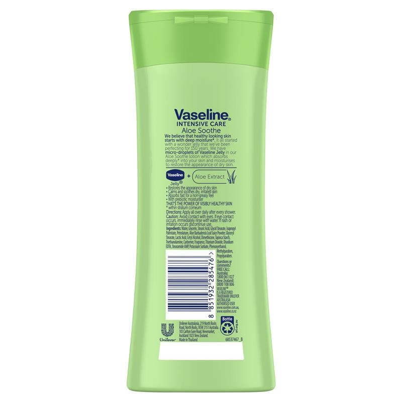 Vaseline Intensive Care Body Lotion Aloe Soothe 225ml