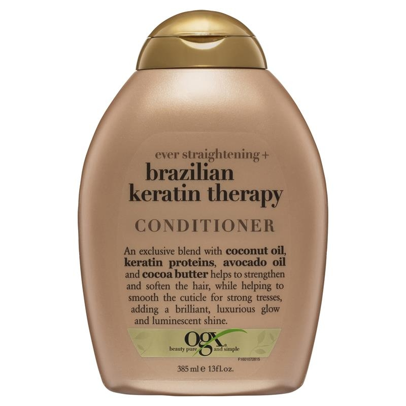 OGX Brazillian Keratin Therapy Ever Straight Conditioner 385mL