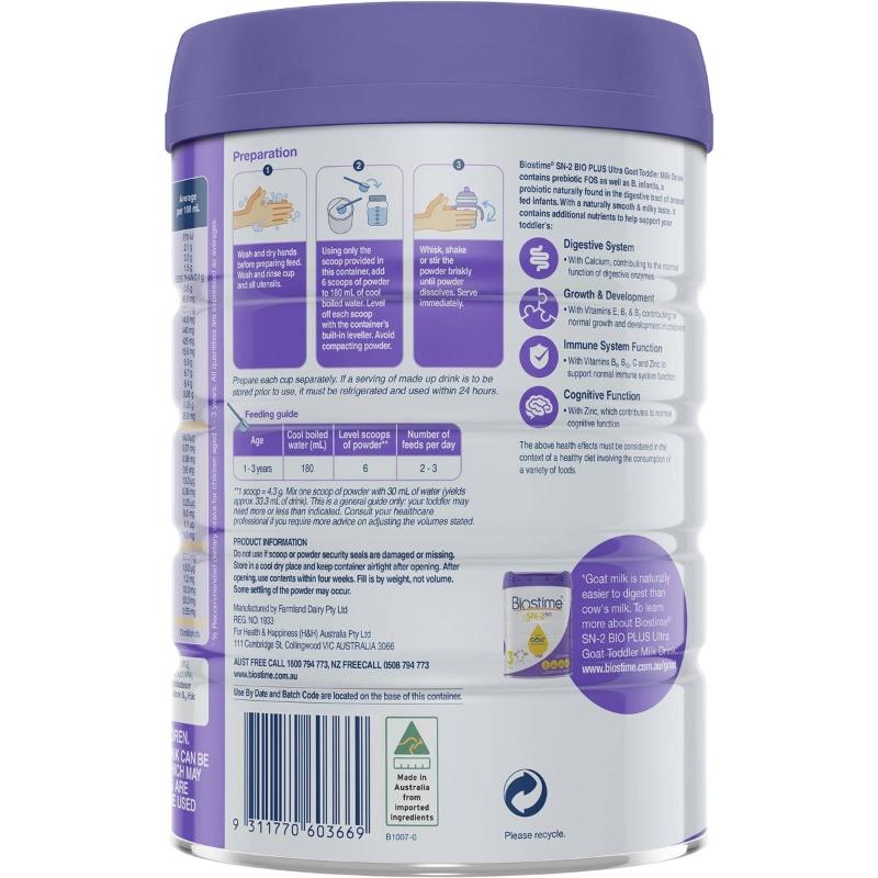 Biostime Sn-2 Bio Plus Premium Organic Follow-on Formula Stage 2 800g