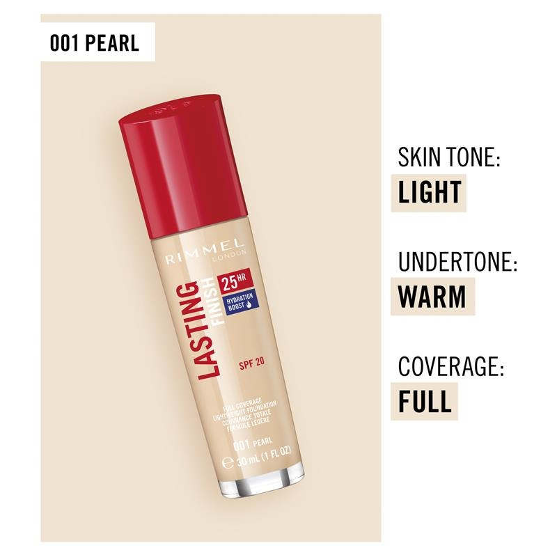 Rimmel Lasting Finish 25Hr Foundation 001 Pearl Online Only