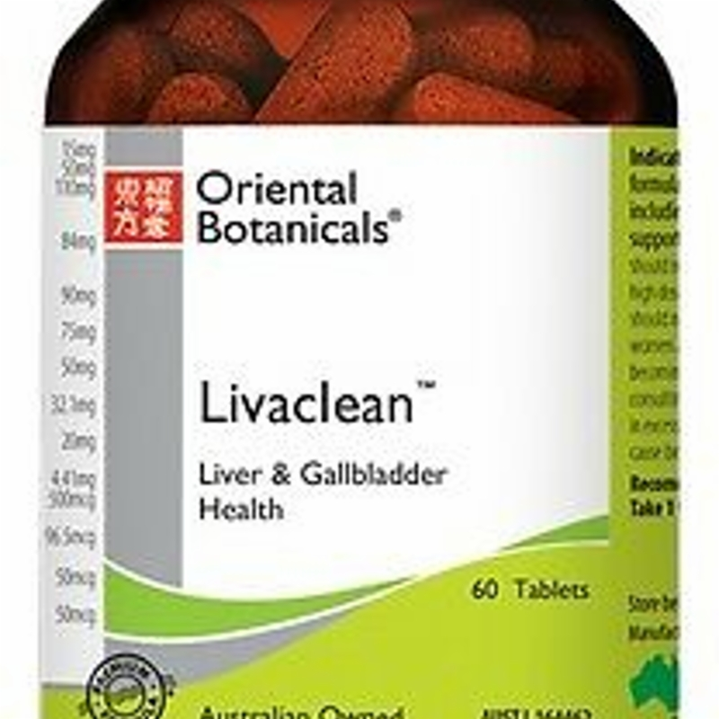 ORIENTAL BOTANICALS Livaclean 30 Tablets ( Liver & Gallbladder Health )