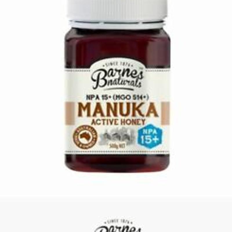 Manuka Honey Active Pure NPA 15+ MGO 514+ 500g BARNES NATURALS Australian