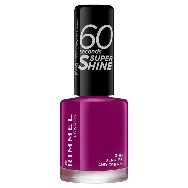 Rimmel 60 Seconds Nail Polish Super Shine Berries & Cream