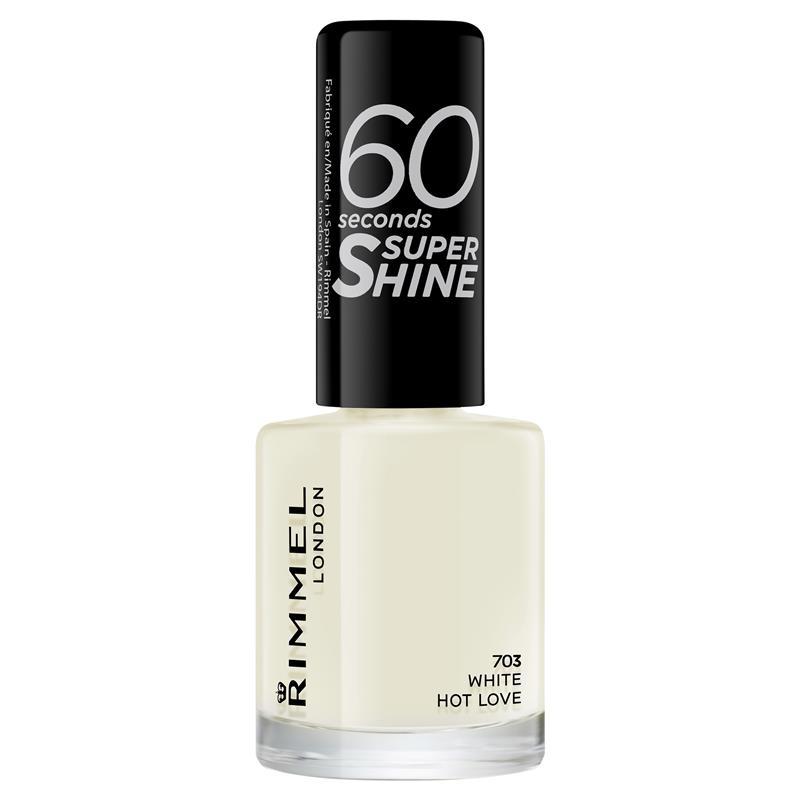Rimmel 60 Seconds Nail Polish White Hot Love
