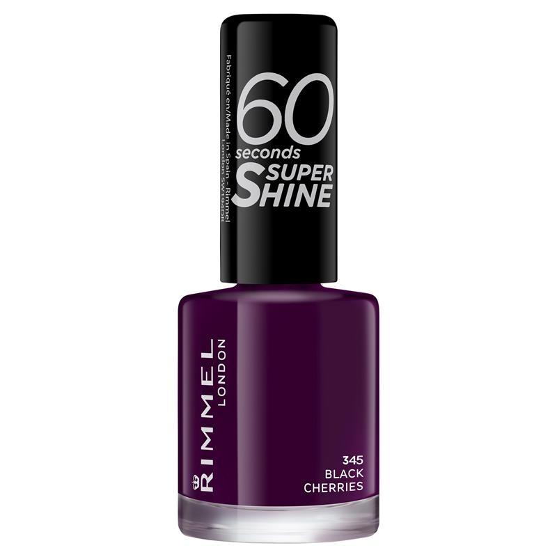 Rimmel 60 Seconds Nail Polish Super Shine Black Cherrie
