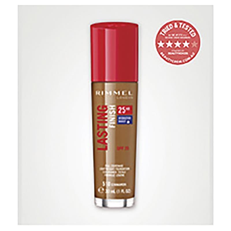 Rimmel Lasting Finish 25Hr Foundation 510 Cinnamon Online Only