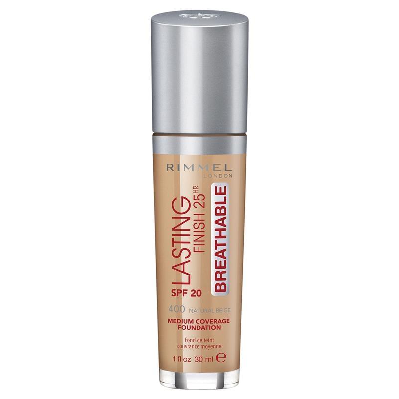 Rimmel Lasting Finish Breathable Foundation 400 Natural beige