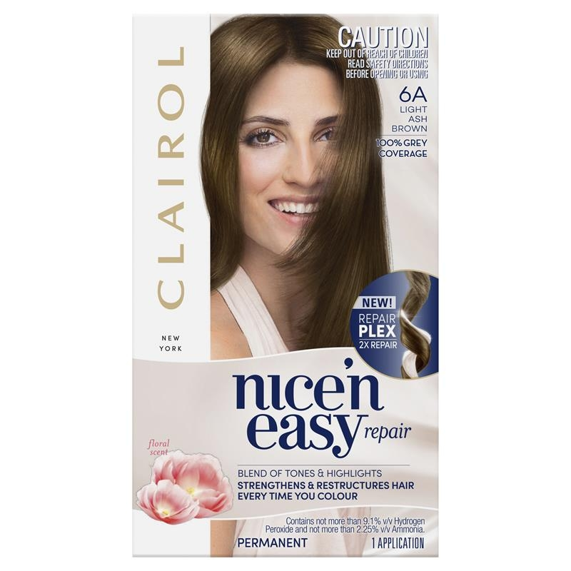 Clairol Nice N Easy Repair - 6A Light Ash Brown Hair Colour
