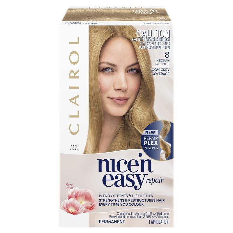 Clairol Nice N Easy Repair - 8A Medium Ash Blonde Hair Colour