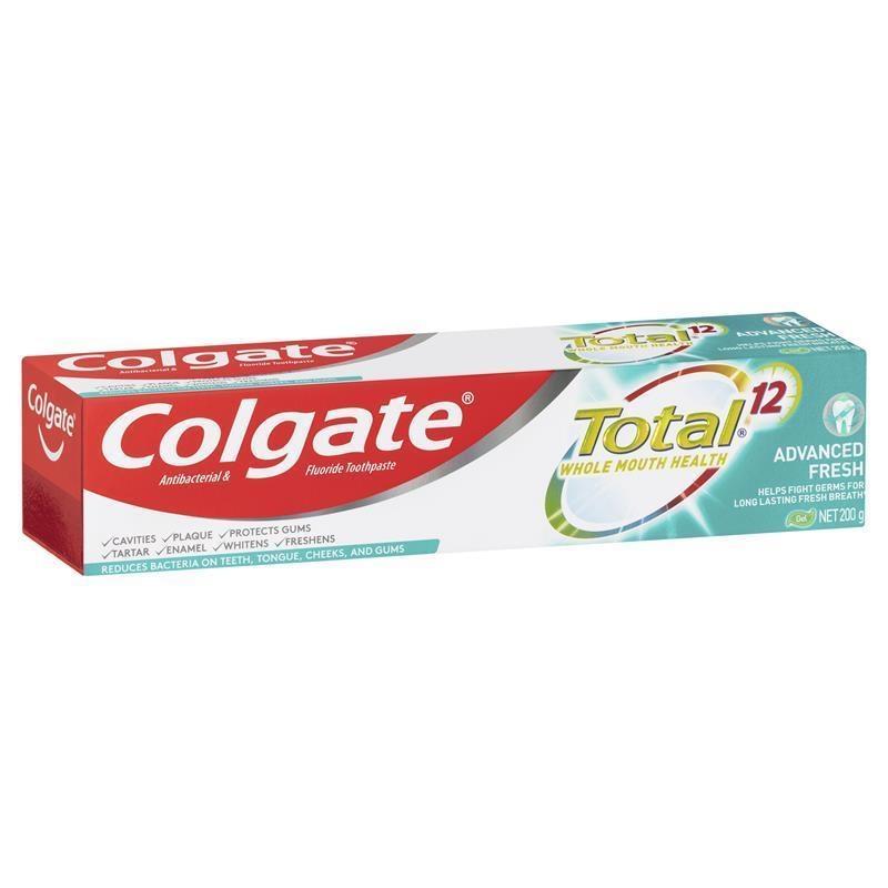 Colgate Total Advanced Fresh Antibacterial & Fluoride Gel Toothpaste 200g