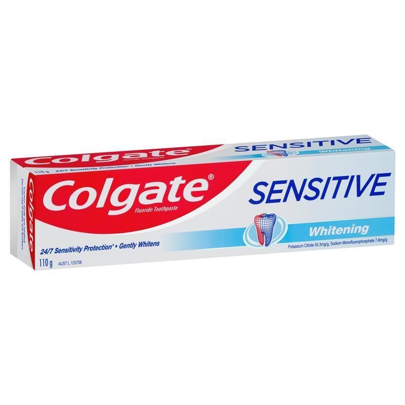 Colgate Sensitive Teeth Pain Whitening Fluoride Toothpaste 110g