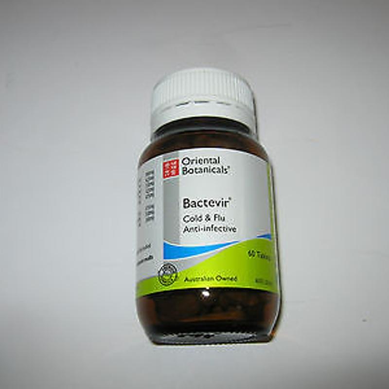 ORIENTAL BOTANICALS Bactevir 30 Tablets ( Cold & Flu Anti-infective )