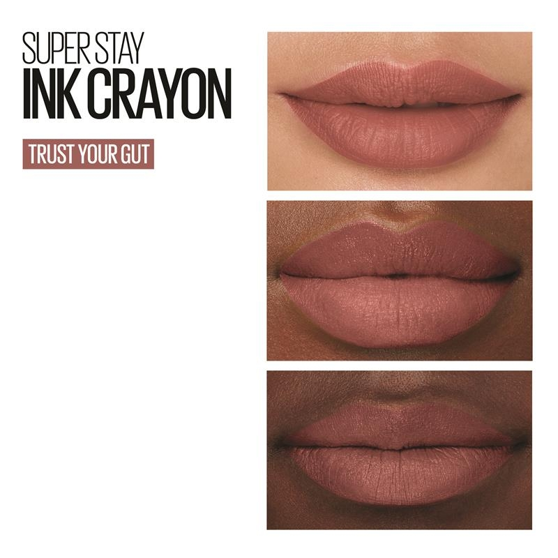 Maybelline Superstay Ink Crayon Lipstick Pinks Trust Your Gut