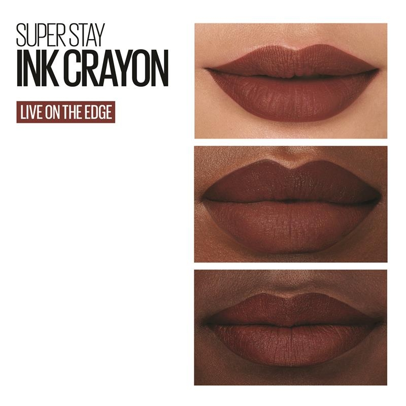 Maybelline Superstay Ink Crayon Lipstick Live On The Edge Online Only
