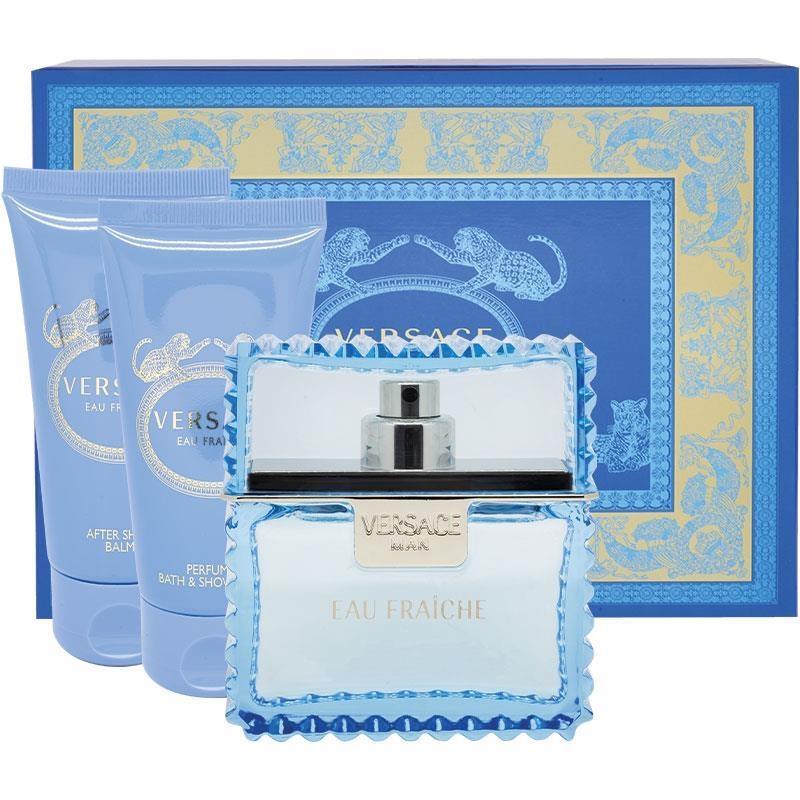 Versace Eau Fraiche Set Eau de Toilette 50ml plus Shower Gel 50ml plus Aftershave Balm 50ml