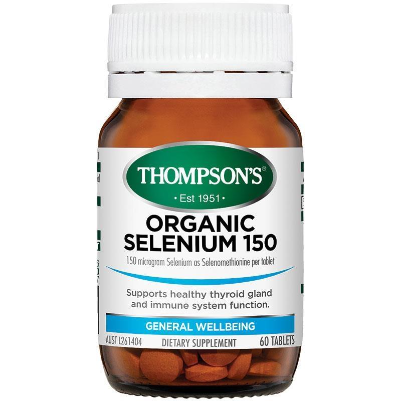 Thompsons Organic Selenium 150 60 Tablets