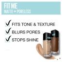 Maybelline Fit Me Matte & Poreless Mattifying Liquid Foundation - Creamy Beige 122