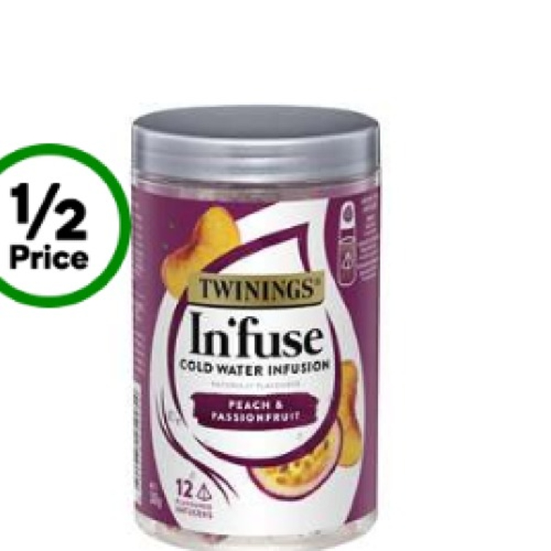 Twinings In'fuse Peach & Passionfruit Cold Water Infusions 12 Pack