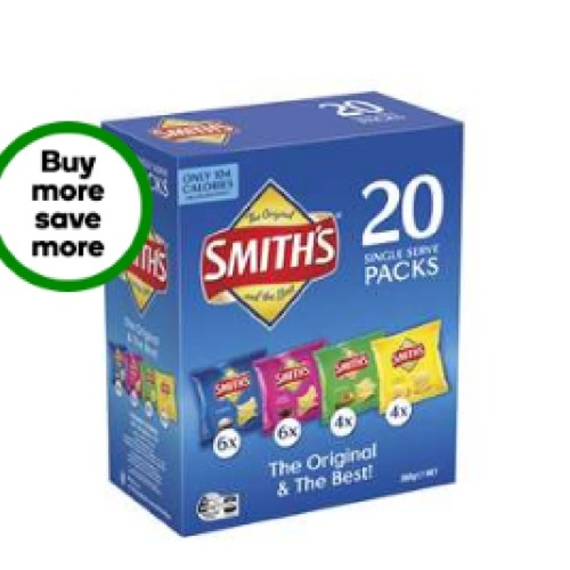Smith's Crinkle Cut Chips Multipack Variety 20 Pack