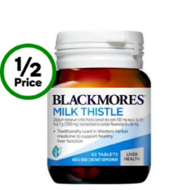 Blackmores Milk Thistle Liver Tonic Tablets 42 Pack