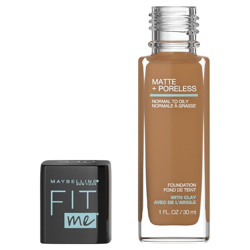 Maybelline Fit Me Matte & Poreless Mattifying Liquid Foundation - Cappuccino 340