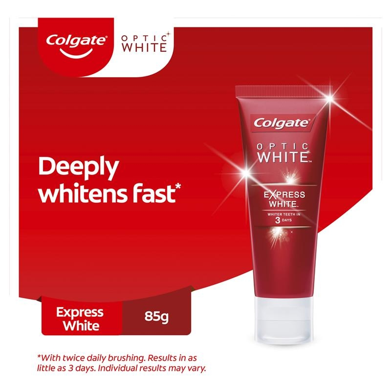 Colgate Optic White Express White Fresh Mint Whitening Toothpaste with hydrogen peroxide 85g