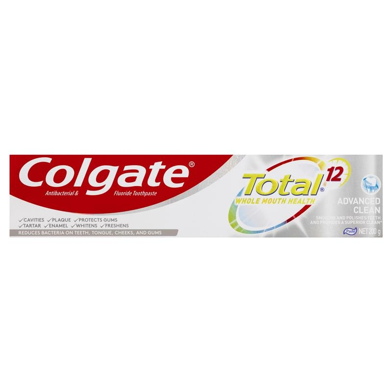 Colgate Total Advanced Clean Antibacterial Fluoride Toothpaste 200g