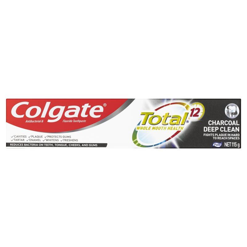 Colgate Total Charcoal Deep Clean Antibacterial Fluoride Toothpaste 115g