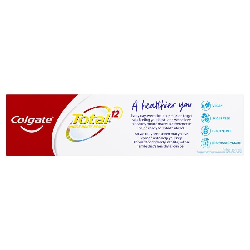 Colgate Total Advanced Whitening Antibacterial Fluoride Toothpaste 115g