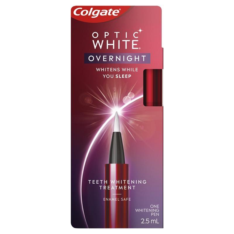 Colgate Optic White Overnight Teeth Whitening Treatment 2.5mL