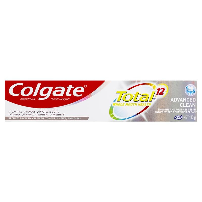 Colgate Total Advanced Clean Antibacterial Fluoride Toothpaste 115g