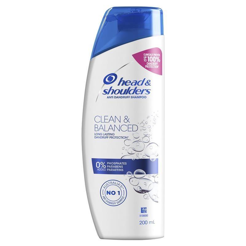 Head & Shoulders Clean & Balanced Anti-Dandruff Shampoo 200mL