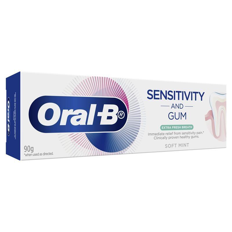 Oral B Toothpaste Sensitivity and Gum Extra Fresh Breath 90g