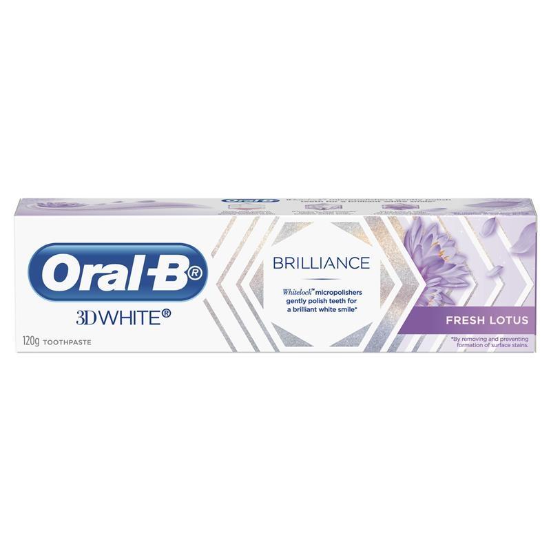 Oral B Teeth Whitening Toothpaste 3D White Brilliance Fresh Lotus 120g