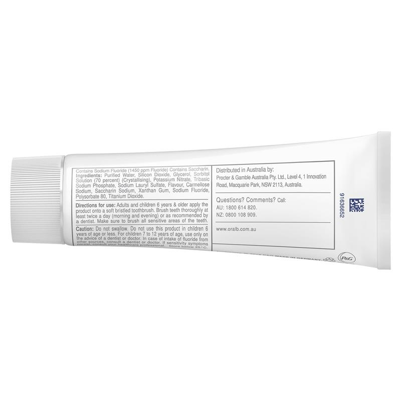 Oral B Toothpaste 3D White Teeth Whitening Therapy Sensitivity Care 95g