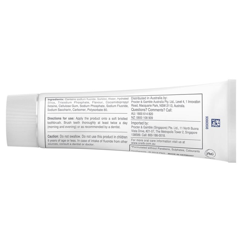 Oral B Toothpaste Pure Enamel Care 100g
