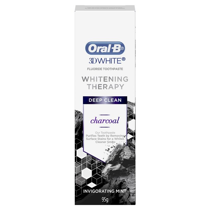 Oral B Toothpaste 3D White Whitening Therapy Deep Clean with Charcoal 95g