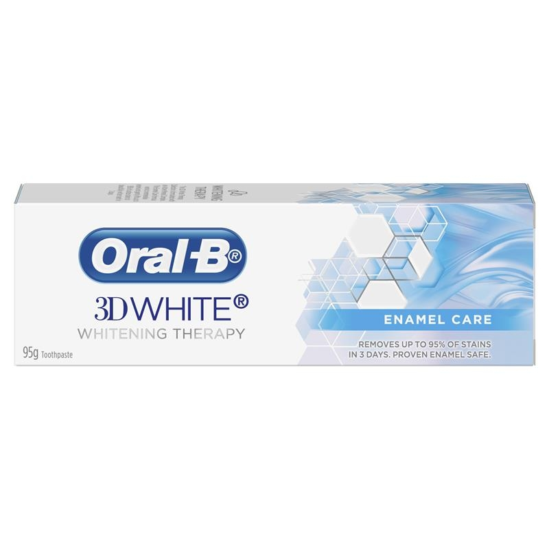Oral B Toothpaste 3D White Teeth Whitening Therapy Enamel Care 95g